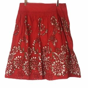 DKNY City 100% Cotton Lined Skirt